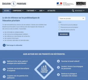 Un nouveau site pour l'éducation prioritaire