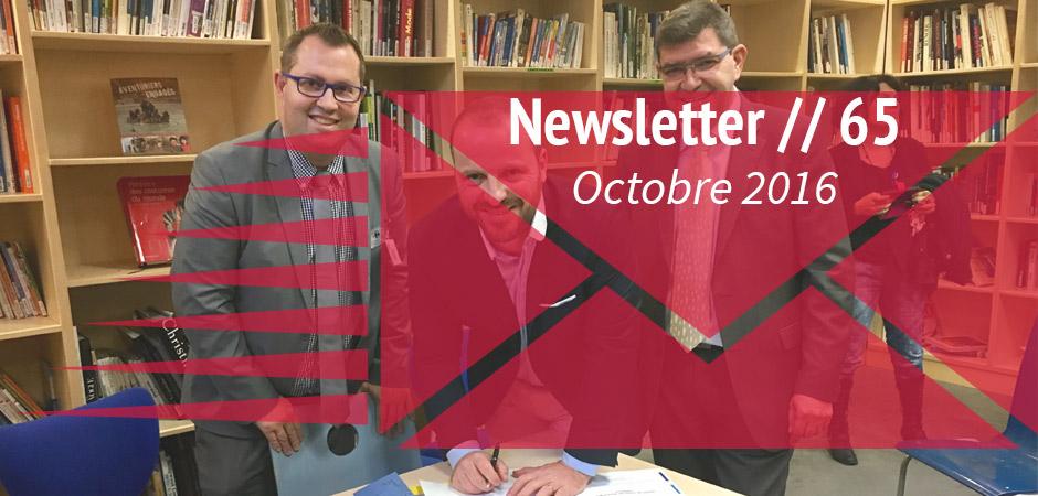 Newsletter octobre 2016