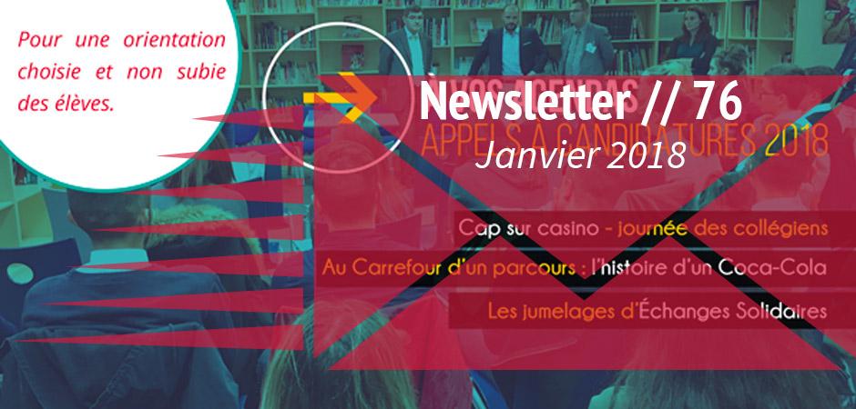 Newsletter Janvier 2018